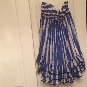 Betsy johnson strapless dress